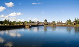 Ancient Cambodian temple ruin view Royalty Free Stock Images