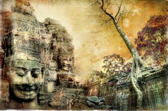 Ancient Cambodian Temples Royalty Free Stock Images