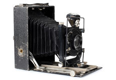 Ancient camera and case five Royalty Free Stock Photo