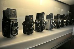Ancient cameras Royalty Free Stock Images