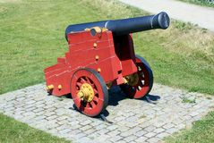 Ancient Cannon. At the Kastellet fortification in Copenhagen, Denmark royalty free stock image