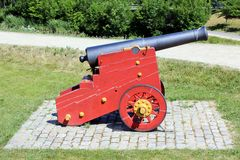 Ancient Cannon. At the Kastellet fortification in Copenhagen, Denmark royalty free stock images