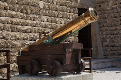 Ancient cannon in the arabian fort Royalty Free Stock Photos