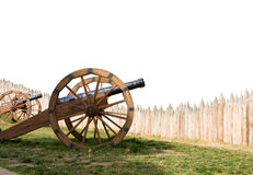 Ancient cannon battery in defence Royalty Free Stock Photography