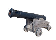 Medieval cannon, isolated on white Stock Images