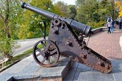 Старинная пушка. в городском парке Чернигова Royalty Free Stock Images