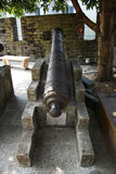 Ancient cannon in the Chinese museum outdoor Royalty Free Stock Images