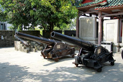 Ancient cannon in the Chinese museum outdoor Stock Photo