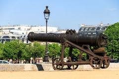 Ancient cannon Invalides Royalty Free Stock Images
