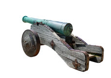 Ancient cannon, isolated Royalty Free Stock Photography