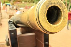 Ancient Cannon in Malaysia Stock Photo