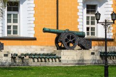 Ancient cannon in the Moscow Kremlin. Stock Image