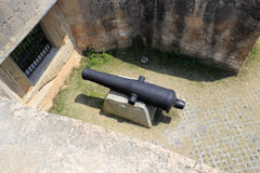 Ancient cannon. In the old coast castle of zhangzhou city, china royalty free stock images