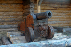 Ancient cannon Siberian Cossacks Royalty Free Stock Photography