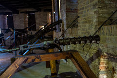Ancient cannon. An ancient cannon in a tower at defence of the town Stock Image