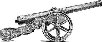 Ancient cannon Royalty Free Stock Image