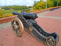 Ancient cannon in Vitebsk Royalty Free Stock Image