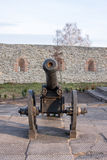 Ancient cannon on wheels. Dubno. Ukraine Royalty Free Stock Image