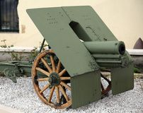 Ancient Cannon of the World War I in Italy Stock Photos