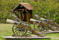 Ancient cannons Royalty Free Stock Photos