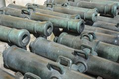 Ancient cannons in the Moscow Kremlin royalty free stock image