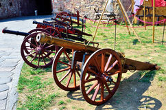 Ancient cannons Royalty Free Stock Images
