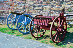 Ancient cannons Stock Image