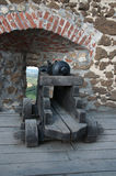 Ancient canon on a fortress in Szigliget Hungary Royalty Free Stock Photo