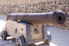 Ancient canon used in wars as weapon. heavy and strong weapon carried by strong military forces, old historical items of wars Bhal. Ancient canon used in wars as Stock Images