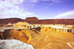 The ancient  canyon about the Dead Sea Stock Images