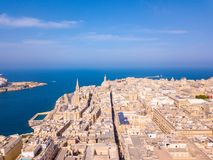 Ancient capital city of Valletta Malta. Island Country of Europe in the Mediterranean Sea Stock Photography