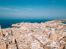 Ancient capital city of Valletta Malta. Island Country of Europe in the Mediterranean Sea Royalty Free Stock Photos