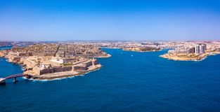 Ancient capital city of Valletta Malta. Island Country of Europe in the Mediterranean Sea Royalty Free Stock Images