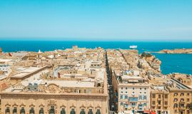 Ancient capital city of Valletta Malta. Island Country of Europe in the Mediterranean Sea Stock Photo