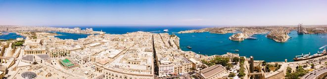 Ancient capital city of Valletta Malta. Island Country of Europe in the Mediterranean Sea Royalty Free Stock Photography