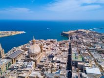 Ancient capital city of Valletta Malta. Island Country of Europe in the Mediterranean Sea Royalty Free Stock Image