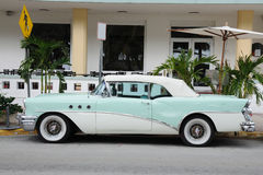 Ancient Car in Miami Beach Royalty Free Stock Images