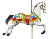An ancient carousel horse Stock Image