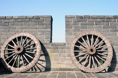 Ancient carriage wheel stock images