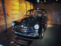 Ancient cars at car museum in Turin Stock Photo