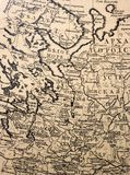 Ancient cartography - old aged ma Royalty Free Stock Photos