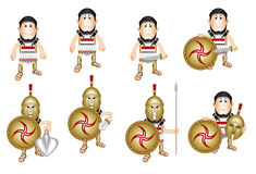 Ancient cartoon Greek hoplite Royalty Free Stock Photo