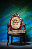 Ancient carved armchair Royalty Free Stock Images