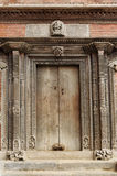Ancient carved door Stock Photography