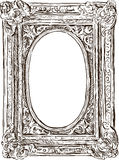 Ancient carved frame Stock Photography