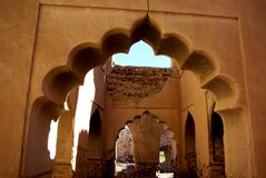 Ancient Carved Omani Arches Royalty Free Stock Photo