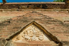 The ancient carving. There are many ancient carving in Myanmar Royalty Free Stock Photos