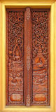 Ancient carving wooden door Stock Photos