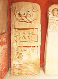 Ancient carvings inside this stunning 8th-century Gwalior fort M Royalty Free Stock Photo