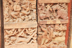 Ancient carvings inside this stunning 8th-century Gwalior fort M Royalty Free Stock Images